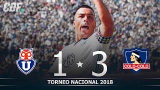 Universidad de Chile 1 - 3 Colo Colo | Torneo Scotiabank 2018 Novena Fecha | CDF
