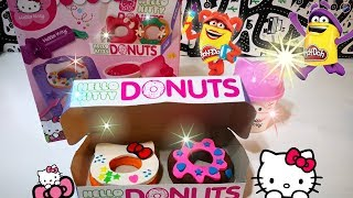 Unboxing Hello Kitty Donuts Dough Playset   凱蒂貓黏土甜甜圈