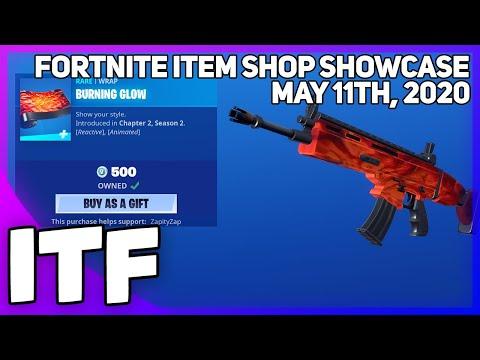 Fortnite Item Shop *NEW* BURNING GLOW WRAP + EDIT STYLES [May 11th, 2020] (Fortnite Battle Royale)