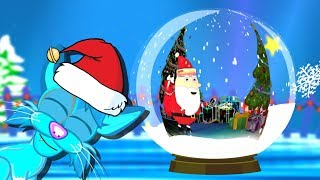 Santa Snow Globe Christmas Lullaby For Babies To Go To Sleep 30 Minute Cartoon Wonderland Lullabies