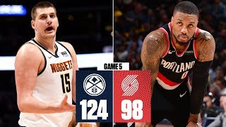 Nikola Jokic's double-double helps Nuggets rout Blazers in Game 5  | 2019 NBA Playoff Highlights