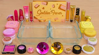 Pink vs Gold - Mixing Makeup Eyeshadow Into Slime ASMR