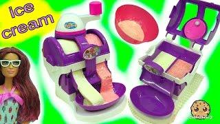Does It Work? Ice Cream Maker Machine Makes Real Food for Disney Frozen Queen Elsa & Anna Dolls