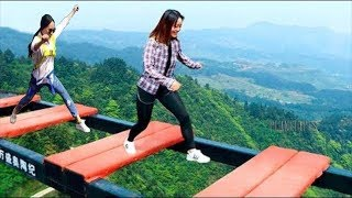 /scary glass bridge in china try not to laugh comedy video part 3