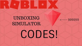 UNBOXING SIMULATOR CODES|OMG SO MANY GEMZZZZZ|