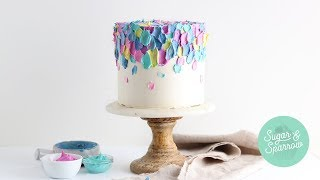 Spatula Painted Buttercream Cake Tutorial