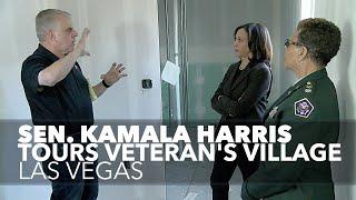 Sen  Kamala Harris tours Veteran's Village in Las Vegas