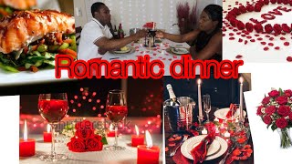Romantic Dinner at home with hubby #Haitiancreator#