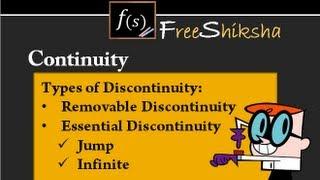 Types of Discontinuity : IIT JEE MAINS, ADVANCED, MATHS, BITSAT, CBSE