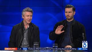 """Aidan Gillen & Michael Malarkey on the UFO Phenomenon in New Show """"Project Blue Book"""""""