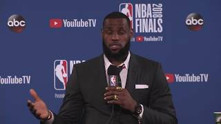 LeBron James Postgame Interview |  Cavaliers vs Warriors NBA Finals Game 1