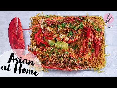 The BEST Lobster Noodles!! Giant Lobster!!