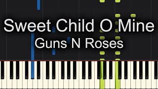 Sweet Child O Mine Piano Cover + Sheet Music Available!!