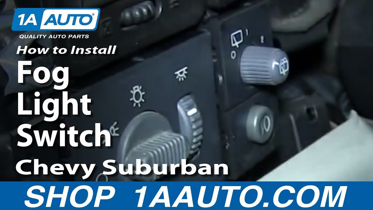 How To Install Replace Fog Light Switch 2000 02 Chevy