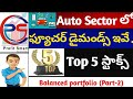 Top Stocks in Auto Sector Explained in Telugu | Fundamental and Technical Analysis of Auto Sector