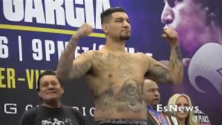 Chris Arreola Vs Jean Pierre Augustin Weigh In Heavyweight Clash Saturday Night EsNews Boxing