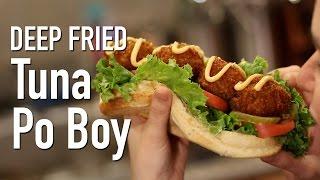 Deep Fried Tuna Fish Po Boy