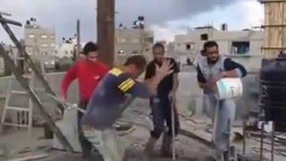 مضحك عن الاسمنت في غزة     -