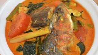 AUTHENTIC NYONYA PENANG STYLE FISH HEAD CURRY