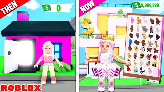 From POOR To RICH! Reacting To My FIRST EVER Adopt Me Video In Roblox...