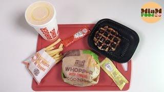 [BURGER KING] Menu Double Whooper with Cheese + King Waffle nappage chocolat