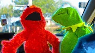 Kermit the Frog and Elmo Rap Car Karaoke!