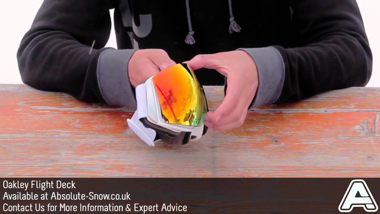 Oakley Flight Deck Goggles Video Review Youtube