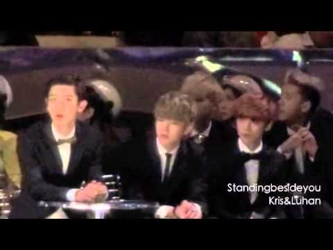 Exo watching 2NE1 perf - MAMA 2013