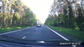 Wypadek na DK-11 27.05.2017 czołówka z motocyklem