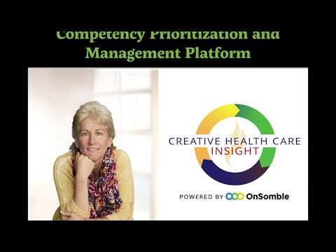 Donna Wright explains in under 2 minutes why OnSomble and CHCM partnered to create an innovative Competency Prioritization and Management Platform.
