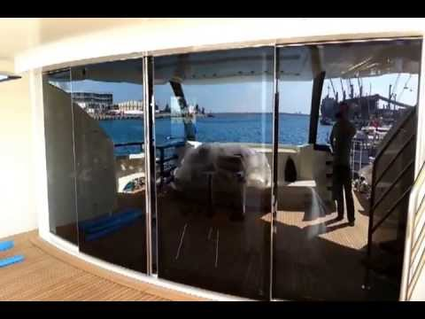Anderson Patio Doors >> Sliding Glass Door For Karides Yacht - YouTube