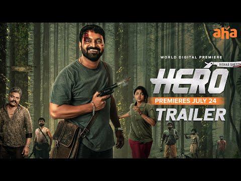 Hero trailer ft. Rishab Shetty, Ganavi Laxman; premiering on aha from July 24