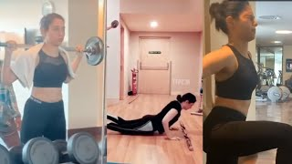 Actress Tamannaah Latest GYM Workout Video..
