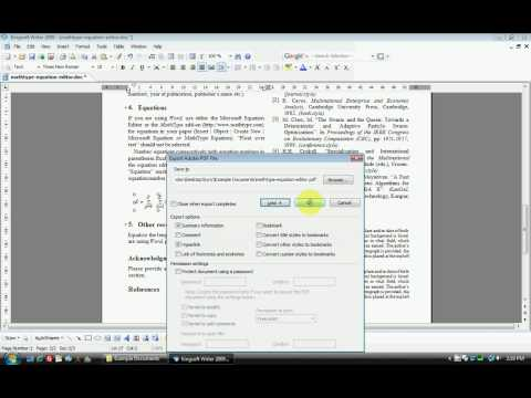 Kingsoft Office 2009 includes Design Science Equation Editor that can be easily upgraded to MathType