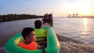 NTN - 4K Thử Lướt Sóng Bằng Bể Bơi Mini  (Surfing with a mini pool )