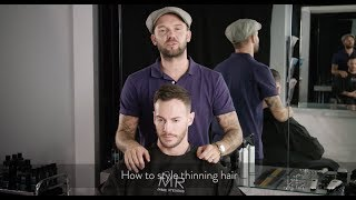 How to style thinning hair | MR. Jamie Stevens Haircare