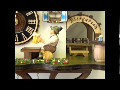 Chalet Cuckoo Clock - Animated Beer Drinker | Hones | #165