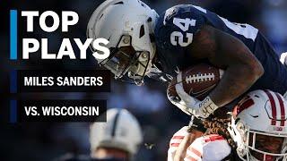 Top Plays; Miles Sanders Highlights vs. Wisconsin Badgers | Penn State | Big Ten Football