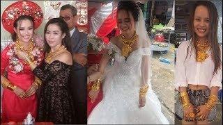 Cô dâu Hậu Giang đeo 129 cây vàng nặng trĩu trong ngày cưới khách mời ai nhìn cũng choáng.