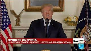 US, France, UK launch strikes on Syria