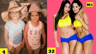 The Bella Twins (Nikki Bella & Brie Bella) - Transformation From 0 to 34 Years Old