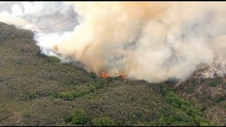Palisades Fire burns more than 1,300 acres in Los Angeles area | ABC7