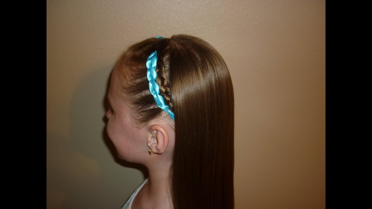 Hairstyles Braids Youtube: Crocheted Ribbon Braided Hairstyle