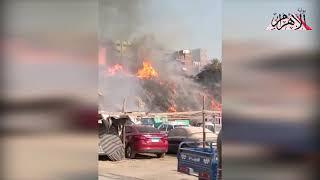 حريق هائل بمنطقة عزبة خير الله في مصر القديمة