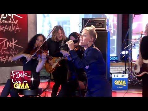 P!nk - Beautiful Trauma - LIVE (GMA)