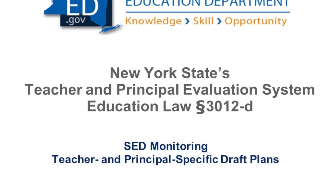 APPR 3012d Module Task 13 - Teacher- and Principal and Principal and Principal-Specific Draft Plans