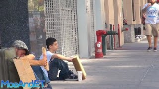 The Homeless Man VS Homeless Child! (Social Experiment)