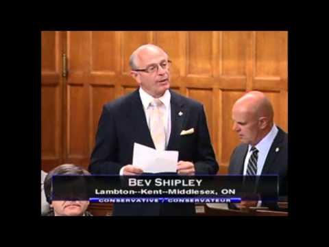 MP Bev Shipley addressed the House of Commons about Troy's Run