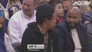 Jay-Z Courtside For Duke vs. Pitt Basketball Game