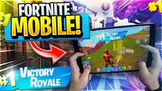 FAST MOBILE BUILDER on iPad // FIRST STREAM IN COLLEGE //615+ Wins // Fortnite Mobile Gameplay